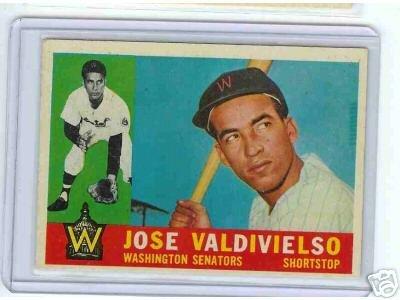 1960 Topps Baseball Card Jose Valdivielso # 527