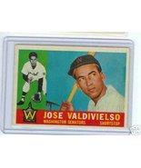 1960 Topps Baseball Card Jose Valdivielso # 527 - $22.52