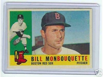 1960 Topps Baseball Card Monbouquette # 544 Red SOX