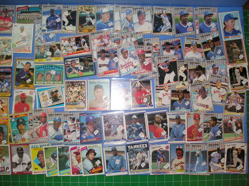 517 Baseball Cards 1959-89 mostly Stars In Sleeves