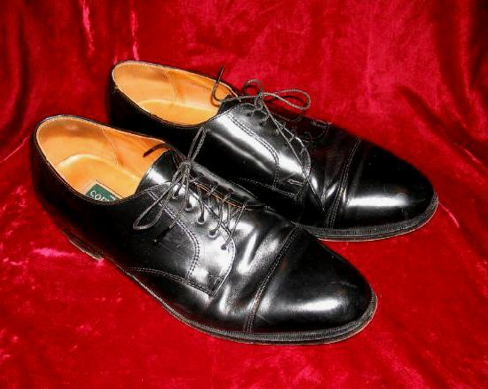 Mens Cole Haan Blk Leather Shoes Lexington 12 D Cap Toe