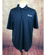 Nike Golf Men's Dri-Fit St. Mary's Foundation Polo Golf Navy Blue Shirt XL - $12.86