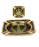 Brass Ashtray w/ Leaf Design - $4.90