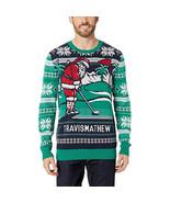 TravisMathew Chim Chim Holiday Sweater Shirt, Green, SM - $29.69