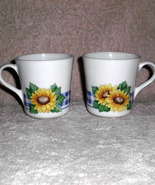 Corelle Sunflower Coffee Tea Mug Corning Ware Set 2  - $12.00