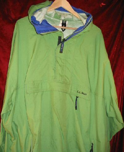 Green LL Bean Pullover Windbreaker Jacket Shirt 2XL XXL