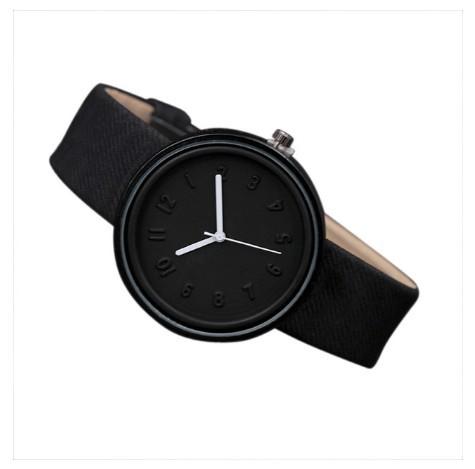 Round Simple Fashion Watches Canvas Belt Unisex Casual Wristwatch Box image 9