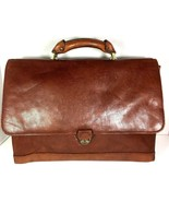 Avenues America Vintage Large Brown Mens Leather Briefcase - Distressed - $54.31
