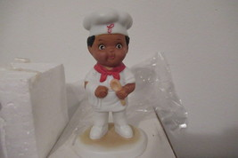 Campbell Soup Kids Bisque Porcelain Chef Boy Figurine 1993 with box - $25.00