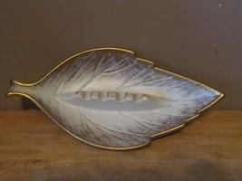 Vintage Royal Haeger USA Pottery Gold Tweed 185-S Leaf Shaped Ashtray~Gr... - $12.20