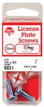 Hillman  License Plate Screws  Slotted  Coarse  3/4 in. L Zinc  Silver - $13.21