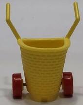 1986 McDonalds Berenstain Bears Mama Bear Yellow Cart Basket Replacement Part - $4.89