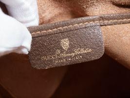 GUCCI GG Web PVC Canvas Leather Browns Drawstring Shoulder Bag GS2171 image 10