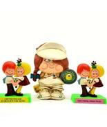 Lot of 3 Vintage Russ Wallace Berries Love Figurines & Enesco Sport Skwi... - $63.35
