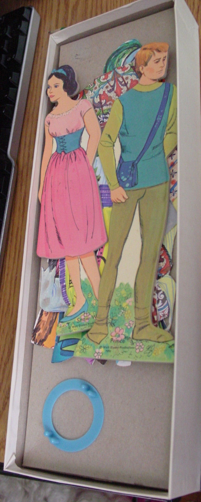 Paper Doll Snow White & the Prince  with Clothes in box 1969