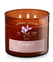 Bath & Body Works Aromatherapy Vanilla & Patchouli Three Wick 14.5 Ounce... - $22.49