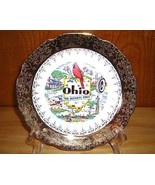 22K Gold Ohio Souvenir Plate - $6.50