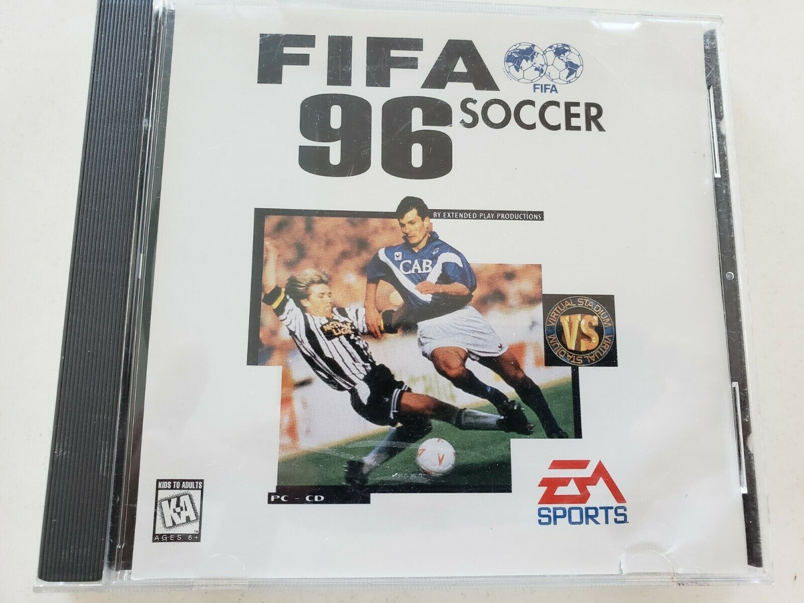 FIFA Soccer 96 1995 Computer Video Game PC CD-ROM EA Sports 1996 Electronic Arts