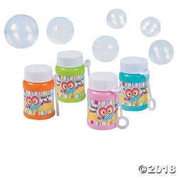 """You're A Hoot"" Mini Bubble Bottles"