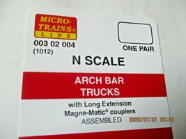 Micro-Trains Stock # 00302004 (1012) Arch Bar Trucks Long Extension N-Scale image 3
