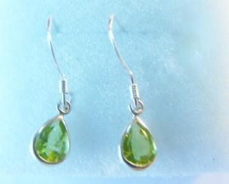Peridot Pear Shaped Dangle Earrings