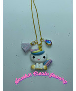 Unicorn Clay Charm Necklace - $25.99+