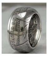 Rare Morgan Dollar 90% Silver Coin Gothic Biker Eagle Vintage Male Jewel... - £69.82 GBP