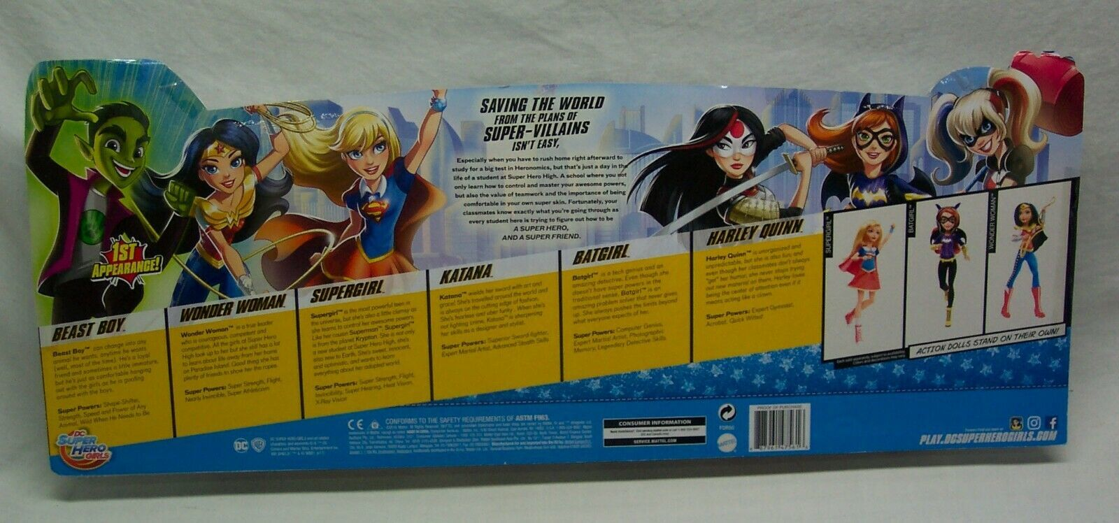 DC Super Hero Girls ACTION FIGURES 5 GIRLS BEAST BOY ACTION COLLECTION TOYS NEW