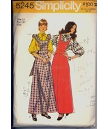 70s Pinafore Dress Jumper Blouse Dolman Sleeve Bust 36 Vintage Sewing Pattern - $12.99
