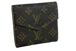 Auth Louis Vuitton Monogram Canvas Mini Lin Trifold Envelope Small Walle... - $177.21