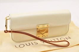 LOUIS VUITTON Vernis Pochette Lagoon Pearl Glasses Case M91801 LV sa1705 - $420.00
