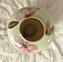 Lenox Royal Blossom Collection Vase Pink Floral Gold Excellent Condition - $29.02