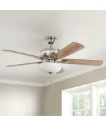 (LIGHT KIT ONLY) Rothley II 52 in. Brushed Nickel Smart LED Ceiling Fan - $14.84