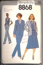 Uncut 70s Size 12 14 16 18 Tall Skirt Pants Vest Jacket Simplicity 8868 ... - $7.99