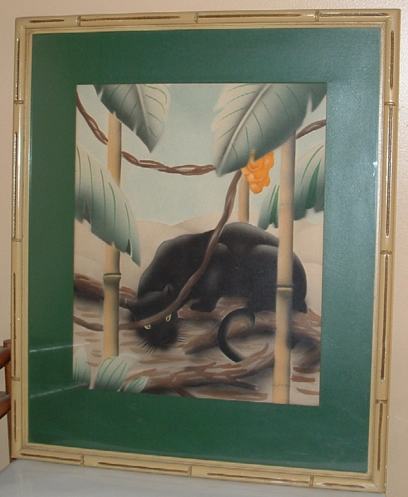 Exotic Panther Watercolor Prints Signed, Sherrill Graves