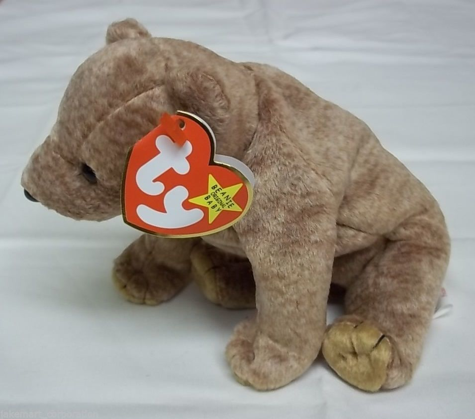 Ty Beanie Babies Pecan the Bear Stuffed Plush Animal