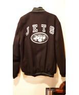 Official NFL Team Apparel - NY Jets Jacket - Size Extra Large EG - Black - $49.49