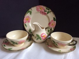 Lot 6 pieces Franciscan Desert Rose Pitcher Creamer cups saucers salad p... - $59.40