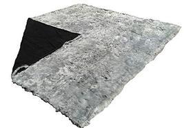 Alpakaandmore Grey Suri Alpaca Furry Carpet Fleece Fabric Covered (118.11 x 110. - $2,206.71