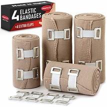 Elastic Bandage Wrap Compression Tape - 4 Compression Bandages + 4 Extra... - $12.63