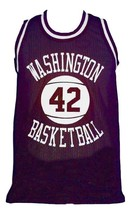 Latrell Sprewell #42 Washington Purgolders Basketball Jersey Purple Any Size image 3