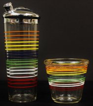 Multi-Color Cocktail Glass Shaker & Ice Bucket - $350.00