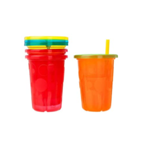The First Years Take & Toss Spill Proof Straw Cups, 10 Ounce, Pack of 4 - $12.45