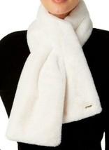 Calvin Klein White Faux Fur Pull Through Scarf Wrap NEW - $36.13