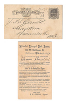 1877 Baltimore MD Fancy Cork Cancel Methodist Episcopal Book Rooms Scott UX5 - $9.95