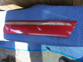 1998 LINCOLN CONTINENTAL RED  LEFT  REAR DOOR MOLDING TRIM OEM USED ORIG... - $125.38