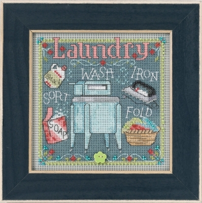 Primary image for Laundry 2017 Spring Series  Buttons and Beads cross stitch Mill Hill