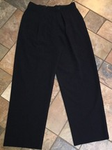 Women's Giorgio Armani Black Pleated Dress Pants Size 8 X 29 - $19.79