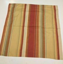 1 Pottery Barn Serape Euro Square Pillow Sham Duncan Stripe Linen Blend EUC - $12.19