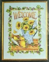 Sunflower Welcome Cross Stitch Kit Gardening Flowers Floral Summer 45294... - $22.24